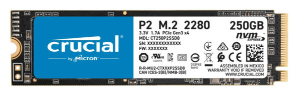 Crucial P2 - 250 GB - M.2 - 2100 MB/s (CT250P2SSD8)