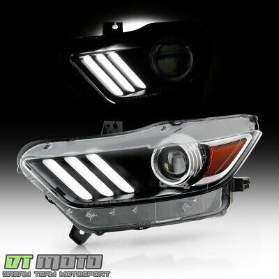 2015-2017 Ford Mustang HID/Xenon LED Tube Projector Headlight Headlamp - Driver