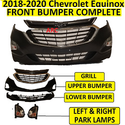 Kyпить 2018 2019 2020 fit CHEVROLET CHEVY EQUINOX FRONT BUMPER  Upper Lower Grill Lamps на еВаy.соm