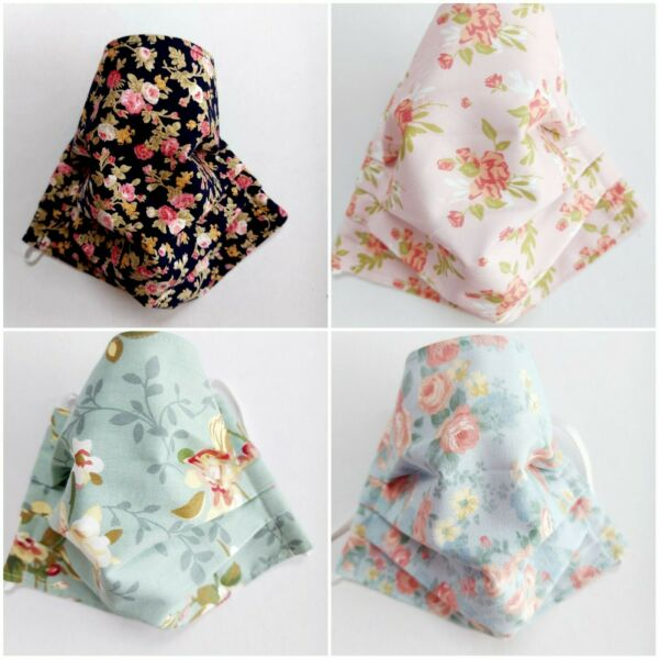 Cotton Fabric Adjustable Face Covering, Facemask, UK Made **FREE SAME DAY P&P**