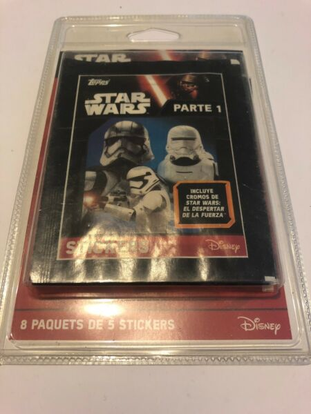 Rennes,France😍 disney star wars cartes stickers neuf 2016 collection le partie 1