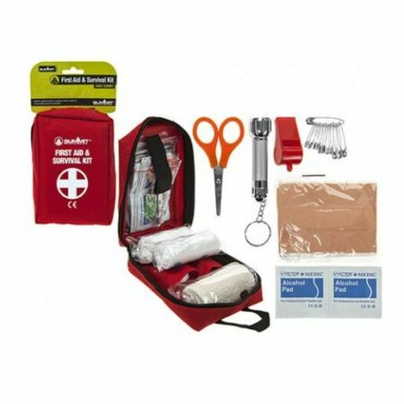 img-Summit Essential First Aid / Survival Kit for Outdoors, Travel & Camping