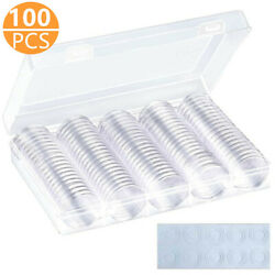 Kyпить 100Pcs 30mm Clear Round Case Coin Storage Capsules Holder Containers with Box  на еВаy.соm