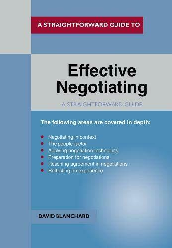 Royaume-Uni Negotiating (Straightforward Guide) Par Blanchard David Neuf