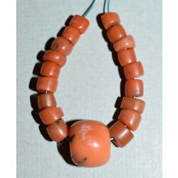 Kyпить Antique Natural Red Coral Beads Collected From Nigeria Via African Trade на еВаy.соm
