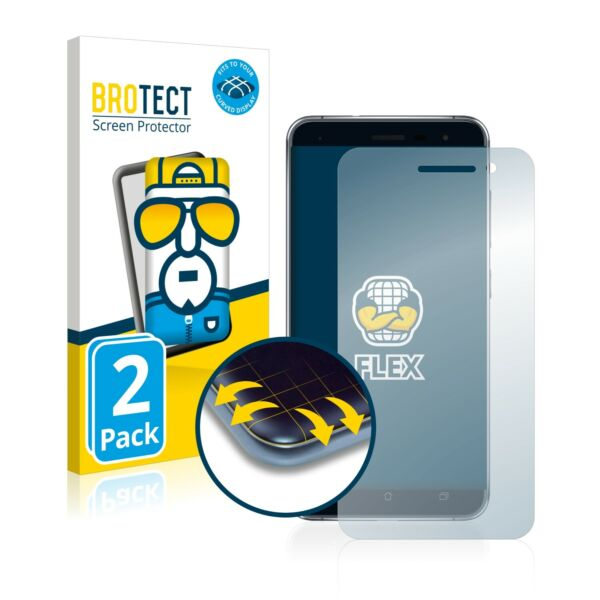 Allemagne2x Full Cover Screen Protector for Asus  3 ZE520KL Curved Protection Film