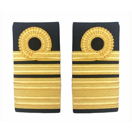 img-Official Royal Navy Vice Admiral Lace Rank Slides - Epaulettes Insignia RN