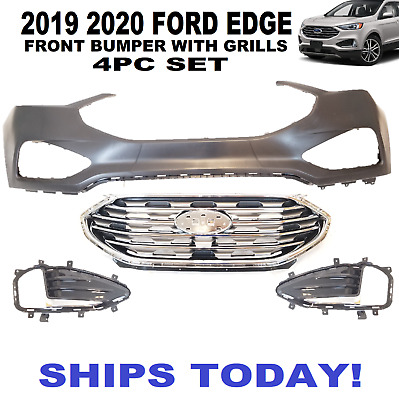 2019 FORD EDGE FRONT BUMPER COVER WITH GRILL AND LAMP COVERS