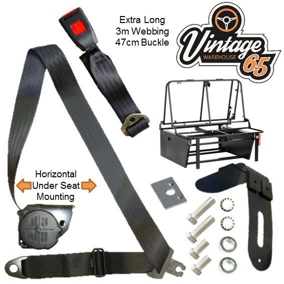 Royaume-UniRock And Roll Litre 3 Point Automatique Extra Long Horizontal Support Seat Belt