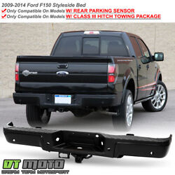 Kyпить 2009-2014 Ford F150 Pickup w/ iii Hitch & Sensor Hole Black Rear Bumper Assembly на еВаy.соm
