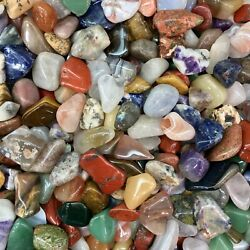 Kyпить 1lb Mixed Lot Polished Rocks - Tumbled Stones Gemstone Mix - Healing and Reiki на еВаy.соm