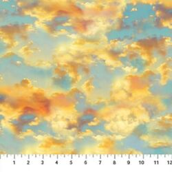 The View From Here Island Paradise cloudy sky Cotton Quilt fabric Northcott