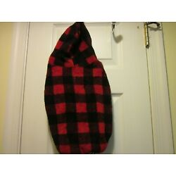 Top Paw Dog Apparel Outerwear Red & Black Plaid With Hood U Pick Size NEW