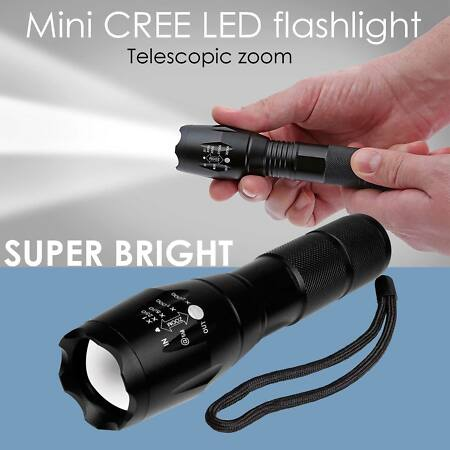 img-Mini T6 Tactical Flashlight Zoomable LED Adjustable Torch Lamp 350000LM Light UK