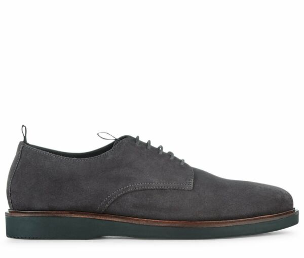 Royaume-UniH by Hudson Daim Gris Chaussures Barnstable Décontracté  8 42 Neuf