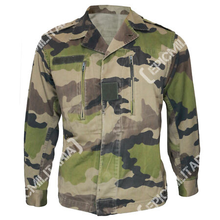 img-Original WW2 French Army Military CCE Camouflage Top Jacket Coat Shirt