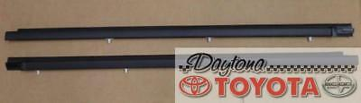 OEM TOYOTA 2003 COROLLA EXTERIOR WEATHERSTRIP SET FRONT 2 WINDOWS ONLY