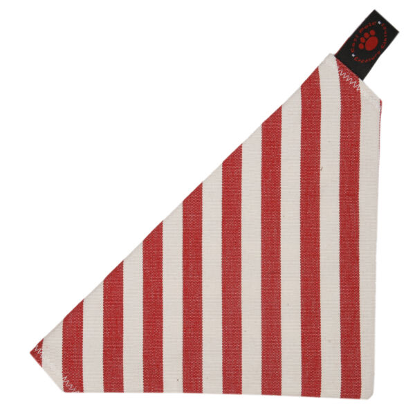 Royaume-UniCreature Clothes - Slip Sur Bandana-Red / Blanc Stripes-Made En Taille - 2 Dispo