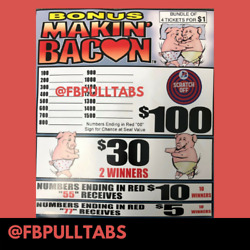 Kyпить BONUS MAKIN' BACON JAR TICKET GAME - 420 COUNT - 110 PROFIT - FUNDRAISING  на еВаy.соm