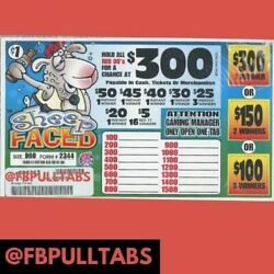 Kyпить SHEEP FACED $1 PULL TAB GAME 860 COUNT  220 PROFIT FUNDRAISING BINGO 1 DAY SHIP на еВаy.соm