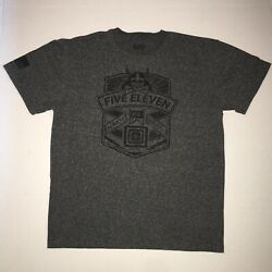 5.11 Tactical Gear Graphic  Always Be Ready  T-Shirt Gray Mens Large