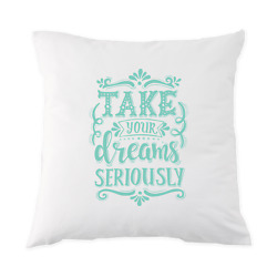 Take Your Dreams Seriously Pillow Case (18x18)