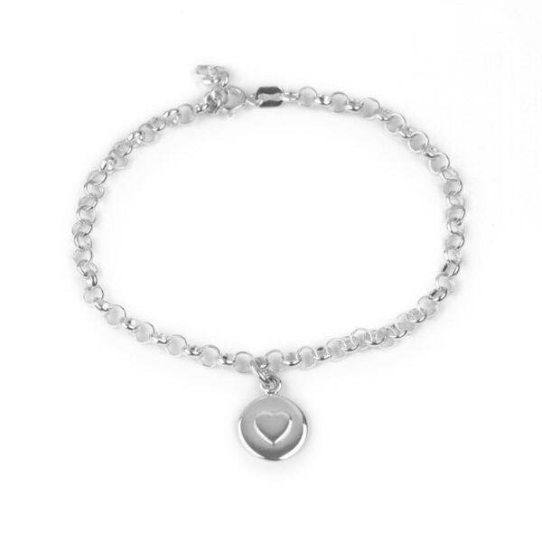 Royaume-UniArgent Sterling - Amour Bracelet Cercle - Argent Coeur - Tales From The Earth