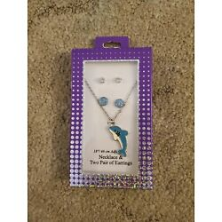 Kyпить Dolphin necklace and 2 sets of earrings, New на еВаy.соm