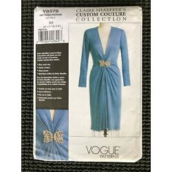 Kyпить Vogue 8578 Misses Dress Sewing Pattern Claire Shaeffer Couture Size 8-14 UNCUT  на еВаy.соm