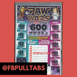 Kyпить PAW WARS - 1060 PULL TABS AT ONE DOLLAR EACH - 265 PROFIT - FUNDRAISER на еВаy.соm