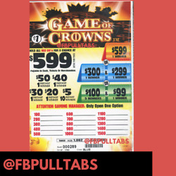 Kyпить GAME OF CROWNS ONE DOLLAR PULL TAB GAME - 1062 COUNT - 273 PROFIT - FUNDRAISER на еВаy.соm