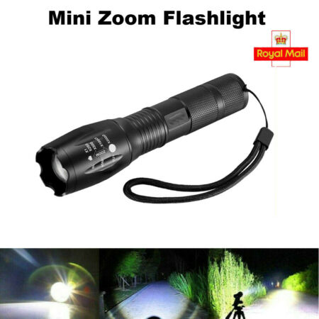img-LED Torch 18650Rechargeable T6 Flashlight Police Tactical Zoom Camping Lamp UK