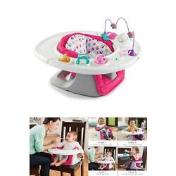 Kyпить 4 In 1 Super Pink Seat Summer Infant W/ BPA Removable Tray Machine Washable на еВаy.соm