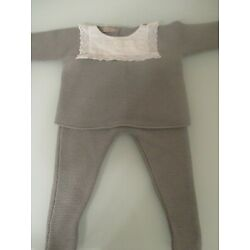 Kyпить Carmina grey knit baby outfit size 9 months barely used, Excellent condition! на еВаy.соm