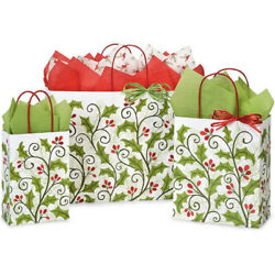 Kyпить Holly Berry Christmas Gift Bags 5 pack choose your size  на еВаy.соm