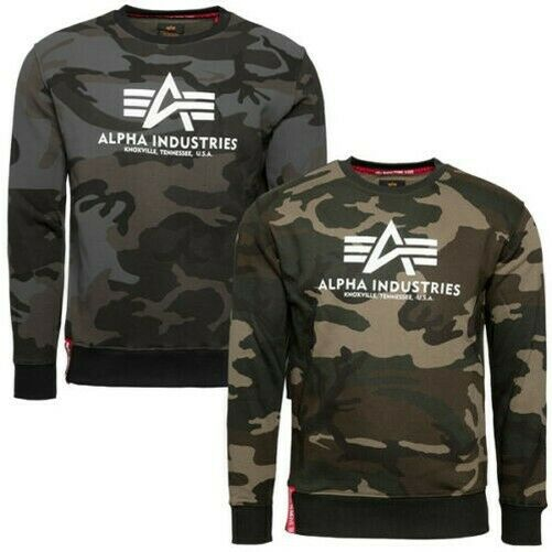 AllemagneAlpha s Basic Homme Pull Camouflage Col Rond à Capuche 178302C