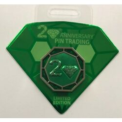 Kyпить Disney Parks 20th Anniversary of Pin Trading Countdown Diamond LE Hinged Pin на еВаy.соm