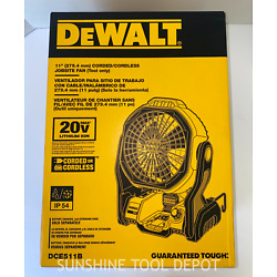 Kyпить DeWALT DCE511B 20-Volt Max 11-Inch Durable Cordless/Corded Jobsite Fan  на еВаy.соm