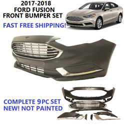 Kyпить 2017 2018 FORD FUSION FRONT BUMPER COVER ASSEMBLY COMPLETE BRAND NEW WITH GRILL на еВаy.соm