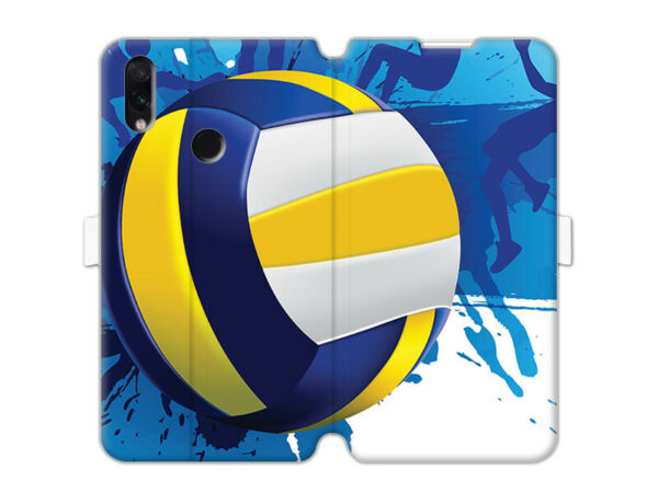 DeutschlandXiaomi Redmi Note 7 Pro Hülle etuo Wallet Book  Case Silikon Volleyball