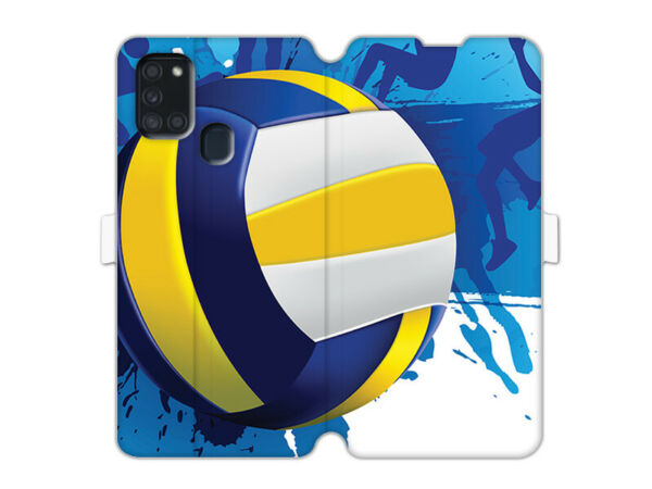 DeutschlandSamsung Galaxy A21s Hülle etuo Wallet Book  Case Cover TPU Volleyball