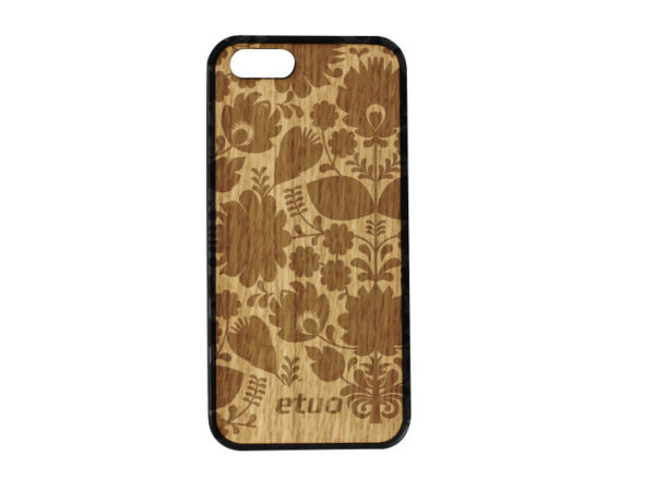 DeutschlandApple iPhone 5SE Hülle etuo Wood Case Cover Silikon TPU Eichenholz -