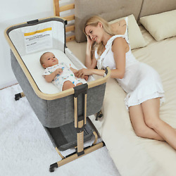 Kyпить 3 in 1 Baby Bassinets,Bedside Sleeper for Baby, Baby Crib with Storage Basket, E на еВаy.соm
