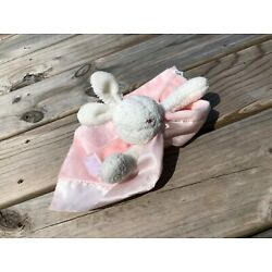 Kyпить Bunnies by the Bay Pink Bunny Rabbit Security  Lovey  Baby Blanket Plush Satin на еВаy.соm