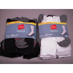 Kyпить Hanes Premium Cool Comfort 12-Pack Cushion Crew Socks Men's 6-12, Choose Color на еВаy.соm
