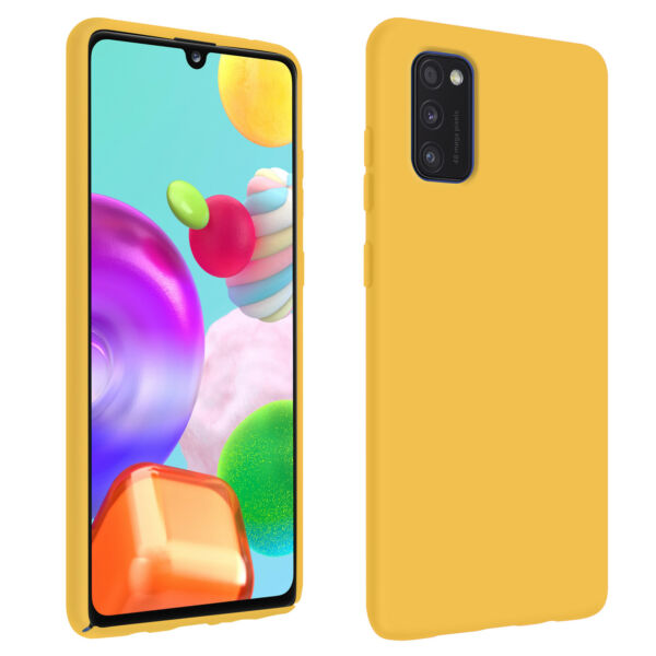 FrankreichBack cover Samsung Galaxy A41 Semi-Rigid  Soft-Touch finish yellow