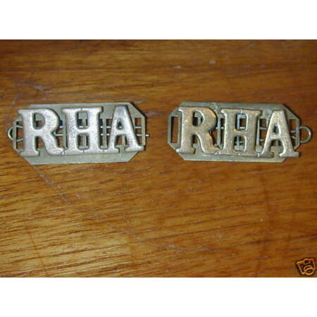 img-Brass Military Badge: Royal Horse Artillery Titles, RHA