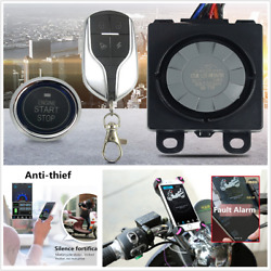 Motorcycle Scooter Security Alarm System Anti-theft Remote Control Start Kit