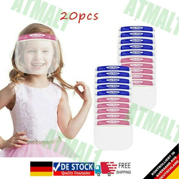 Tschechische Republik20X Faceshield Gesichtsschutz Face Shield Mundschutz Kindermaske Kinder Shield