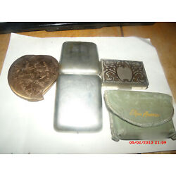 Kyпить 3 ANTIQUE  COMPACTS.ELGIN AMERICAN MUSIC/POUCH,CUPIDS AND  1 OTHER. на еВаy.соm